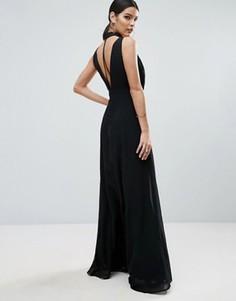 Платье макси с лямками на спине ASOS - Черный