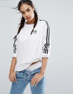 Белый свитшот с тремя полосками adidas Originals - Белый