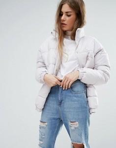 Дутая куртка в стиле oversize от Ellesse - Фиолетовый