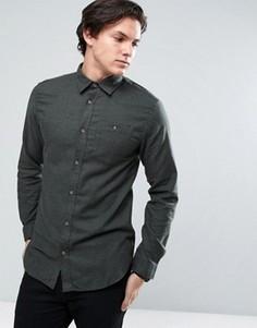 Джинсовая классическая рубашка с карманом Jack & Jones Originals - Зеленый