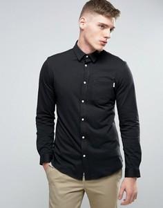 Приталенная рубашка из хлопкового трикотажа Jack & Jones Core - Черный