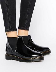 Черные лакированные ботинки челси Dr Martens Bianca - Черный