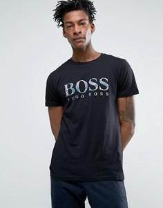 Черная футболка классического кроя с логотипом BOSS Orange by Hugo Boss - Черный