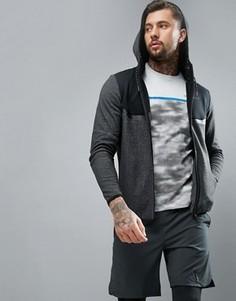 Спортивная куртка с капюшоном и вставками Jack & Jones - Серый