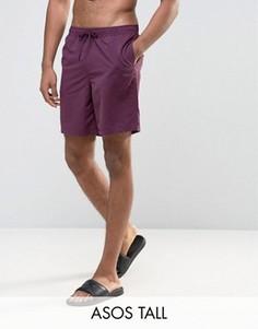 Фиолетовые шорты для плавания средней длины ASOS TALL - Фиолетовый