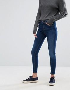Суперзауженные укороченные джинсы с классической талией Jack Wills Fernham - Синий