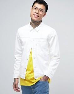 Белая саржевая куртка Levis Line 8 - Белый
