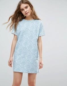 Цельнокройное платье с принтом Traffic People - Синий