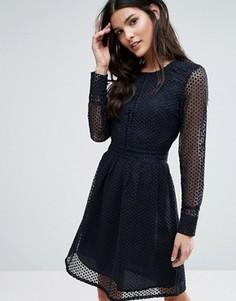 Кружевное платье Y.A.S - Темно-синий