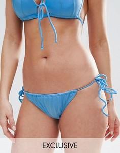 Плавки бикини танга с завязками по бокам эксклюзивно для ASOS FULLER BUST - Синий