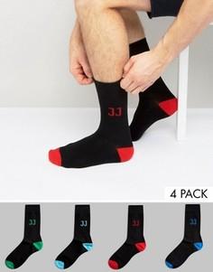 4 пары носков с логотипом Jack & Jones - Черный