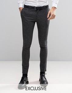Супероблегающие шерстяные брюки в крапинку Noak - Серый