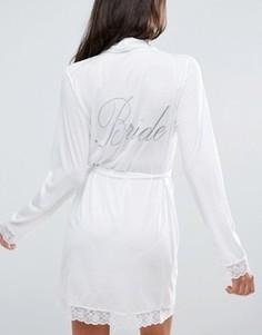 Халат с надписью Bride ASOS BRIDAL - Белый