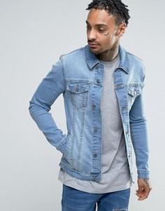 Светлая супероблегающая джинсовая куртка ASOS - Синий