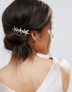 Заколка для волос ограниченной серии с морскими звездочками - Золотой Asos