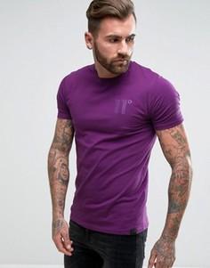 Фиолетовая обтягивающая футболка 11 Degrees - Фиолетовый