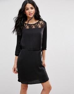 Платье с эластичной талией Blend She Dotto - Черный