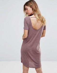 Платье-футболка с короткими рукавами Vila - Красный