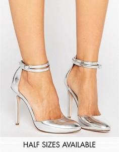 Туфли на высоком каблуке ASOS PLAYDATE - Серебряный