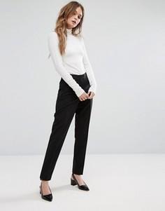Строгие брюки слим New Look - Черный