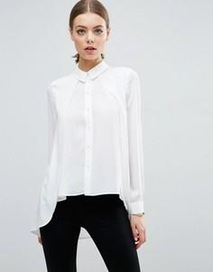 Блузка с удлиненной спинкой ASOS - Белый