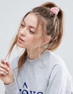Бархатная повязка на голову ASOS - Розовый