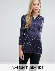 Рубашка со звездочками Isabella Oliver - Темно-синий