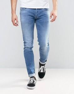 Светлые джинсы скинни Diesel Sleenker 0852V - Синий