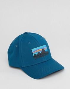 Синяя бейсболка с логотипом Patagonia - Синий