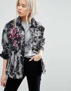 Куртка с вышивкой ASOS - Черный
