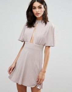 Платье с широкими рукавами Love - Бежевый