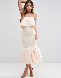 Платье миди ASOS PREMIUM - Кремовый