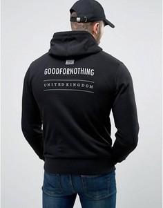 Черное худи в обтяжку со светоотражающим принтом на спине Good For Nothing - Черный