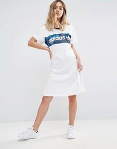 Платье-футболка Adidas - Белый