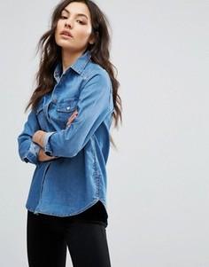 Джинсовая рубашка в стиле вестерн New Look - Синий