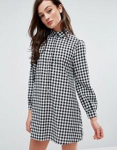 Платье-рубашка в клеточку Fashion Union - Мульти