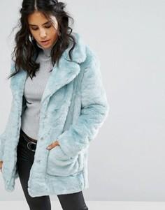 Пальто из искусственного меха Glamorous - Синий