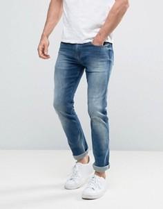 Узкие прямые эластичные джинсы Calvin Klein Jeans - Синий