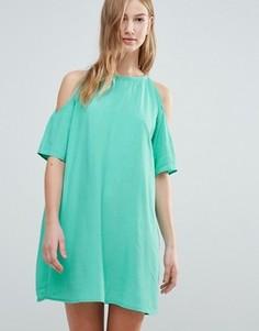 Платье‑футболка с открытыми плечами Motel - Зеленый