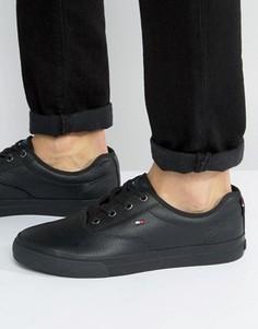 Кожаные кроссовки Tommy Hilfiger Paulie - Черный