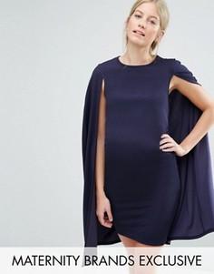 Свободное платье с кейпом Bluebelle Maternity - Темно-синий