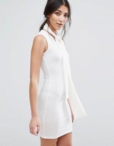 Облегающее платье с завязкой на горловине Glamorous - Кремовый