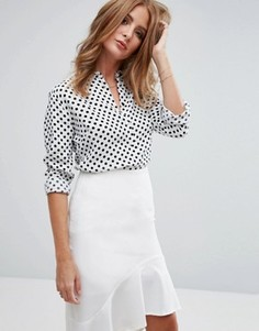 Блузка в горошек Millie Mackintosh - Белый
