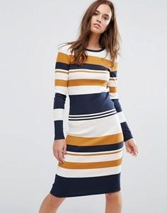 Облегающее платье в полоску Selected Femme - Мульти