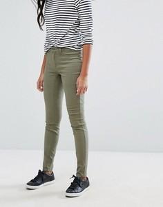 Зауженные джинсы с классической талией J.D.Y - Зеленый JDY