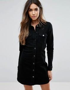Джинсовое платье в стиле вестерн JDY - Черный