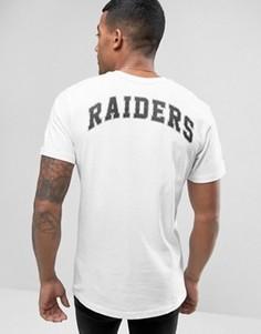 Футболка с принтом Raiders на спине New Era - Белый