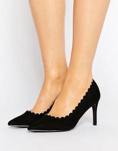 Туфли-лодочки с фактурной отделкой по краю London Rebel - Черный