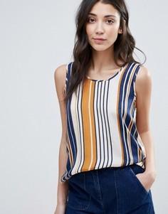 Блузка в полоску без рукавов Vila - Синий