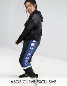 Трикотажные брюки с принтом ASOS CURVE - Мульти
